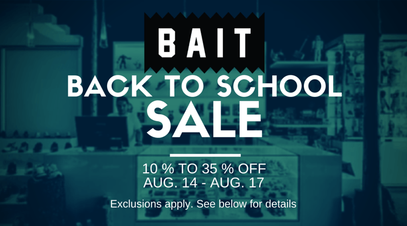 BAIT Back to School Sale